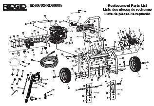 RIDGID RD80702  Pressure Washer Replacement Parts